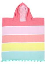 Kids Hooded Fouta Towel Pink