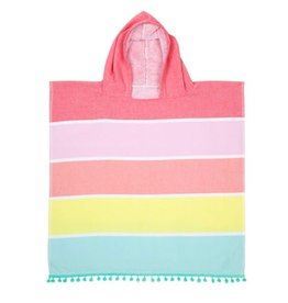 Kids Hooded Fouta Towel Pink