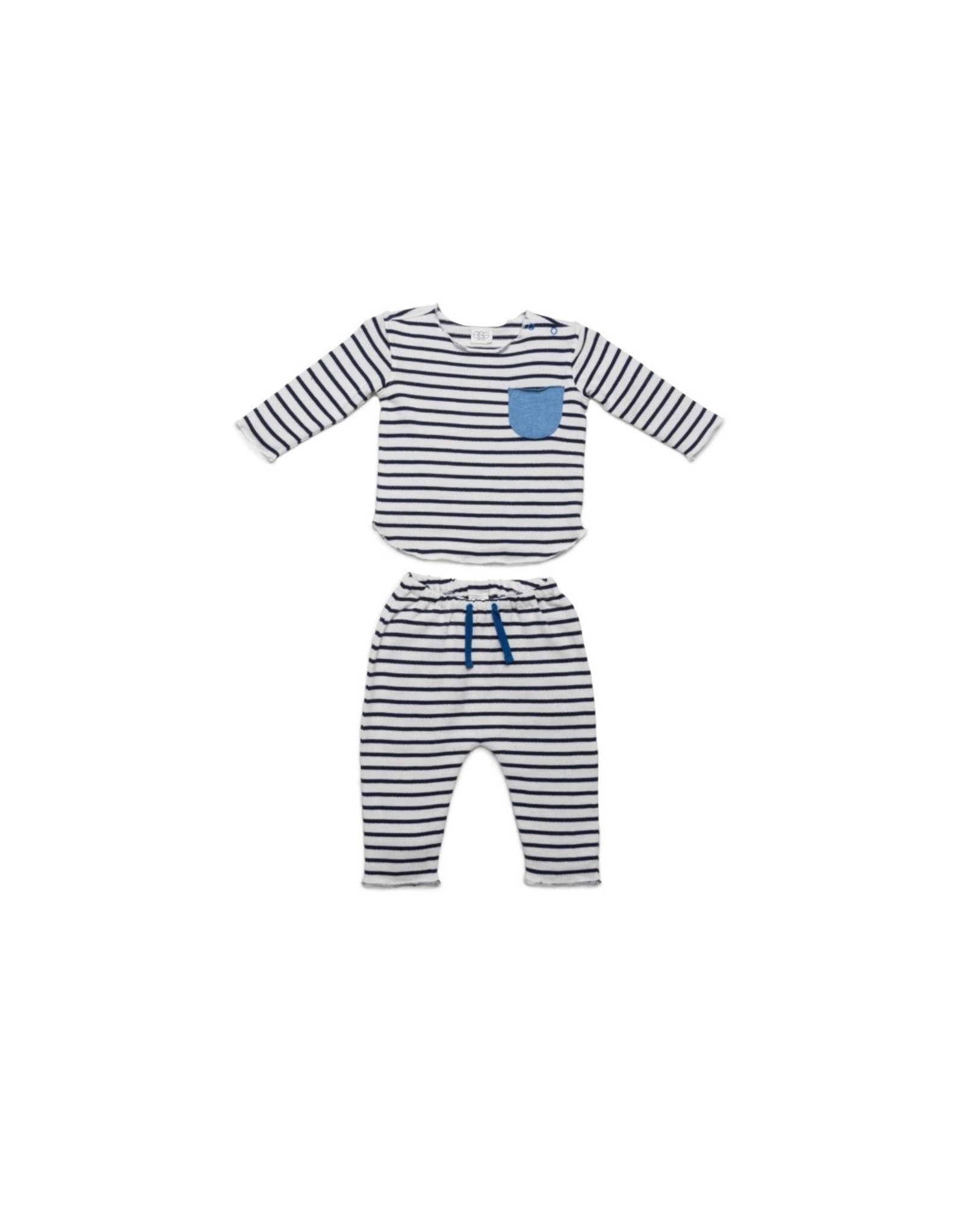 EGG EGG Bobbi Knit Set Blue Stripe