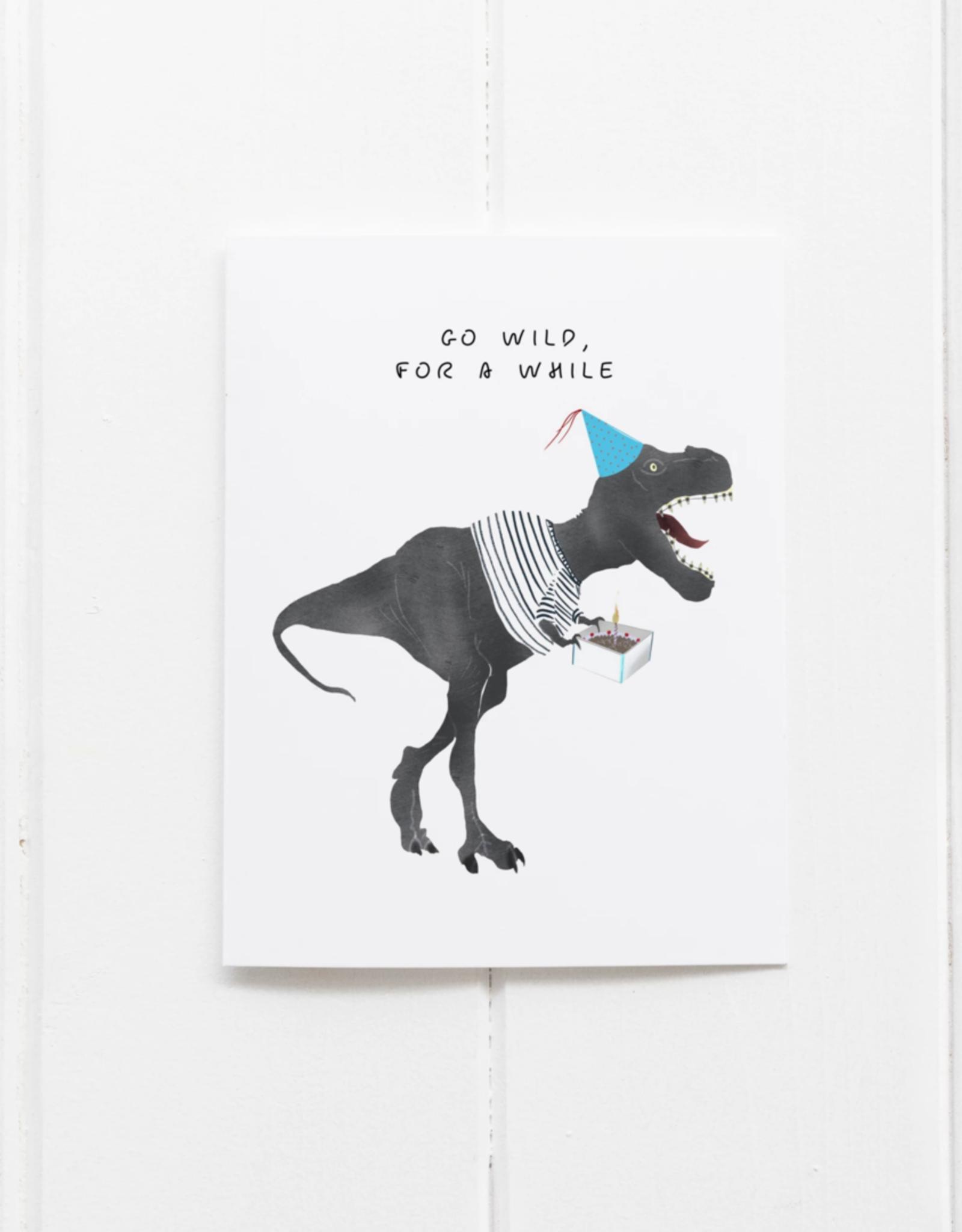 Get Wild Dinosaur Birthday Card