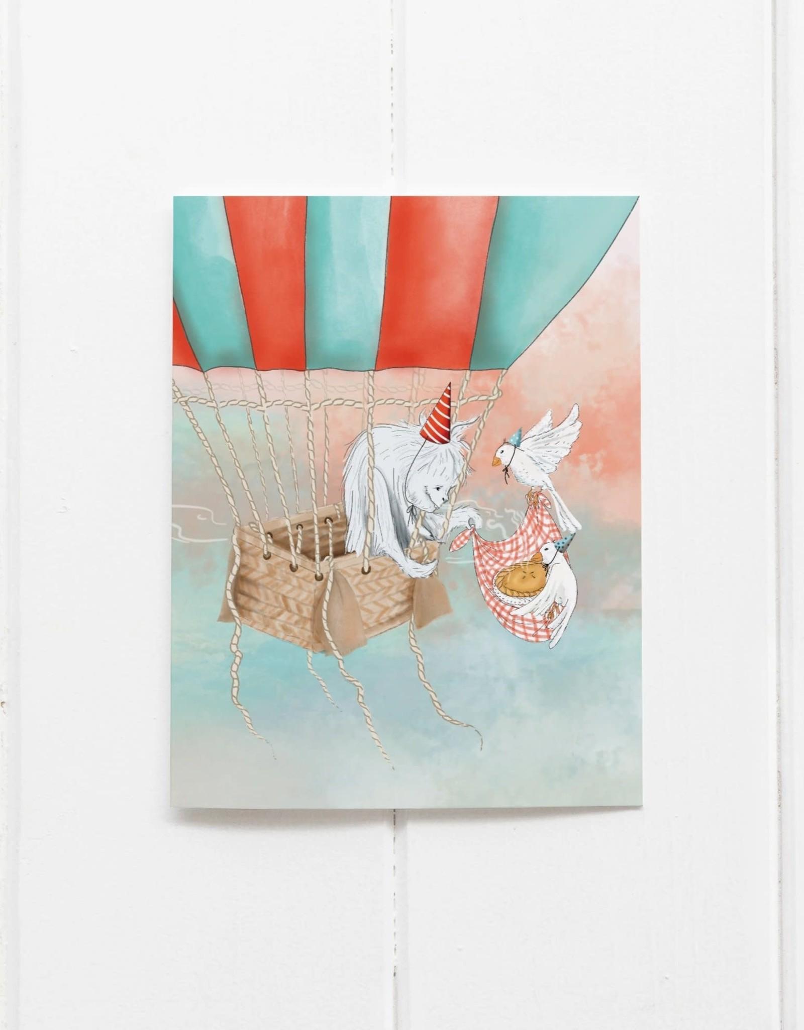 Yeti's Birthday Card