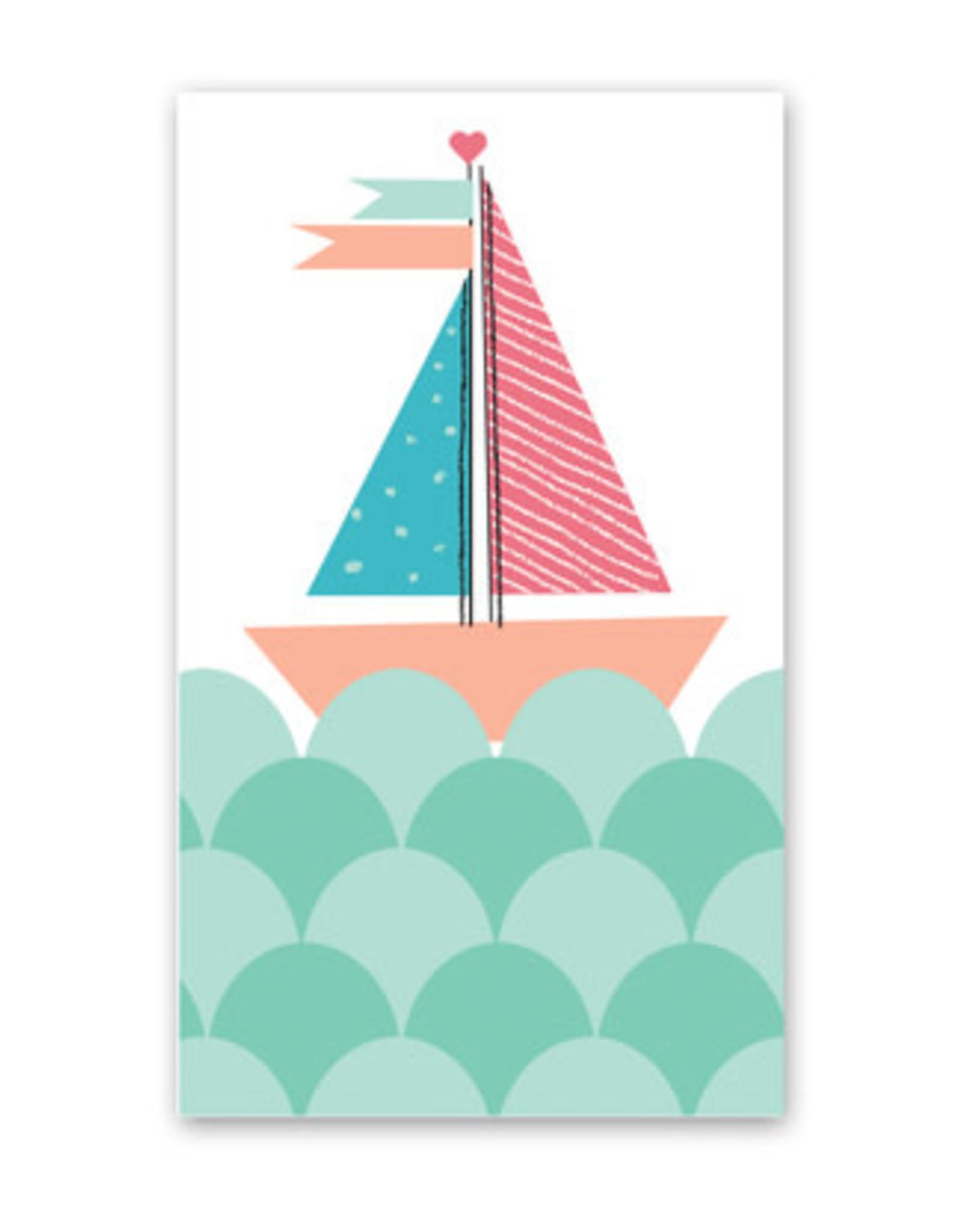 Sailboat Enclosure Card