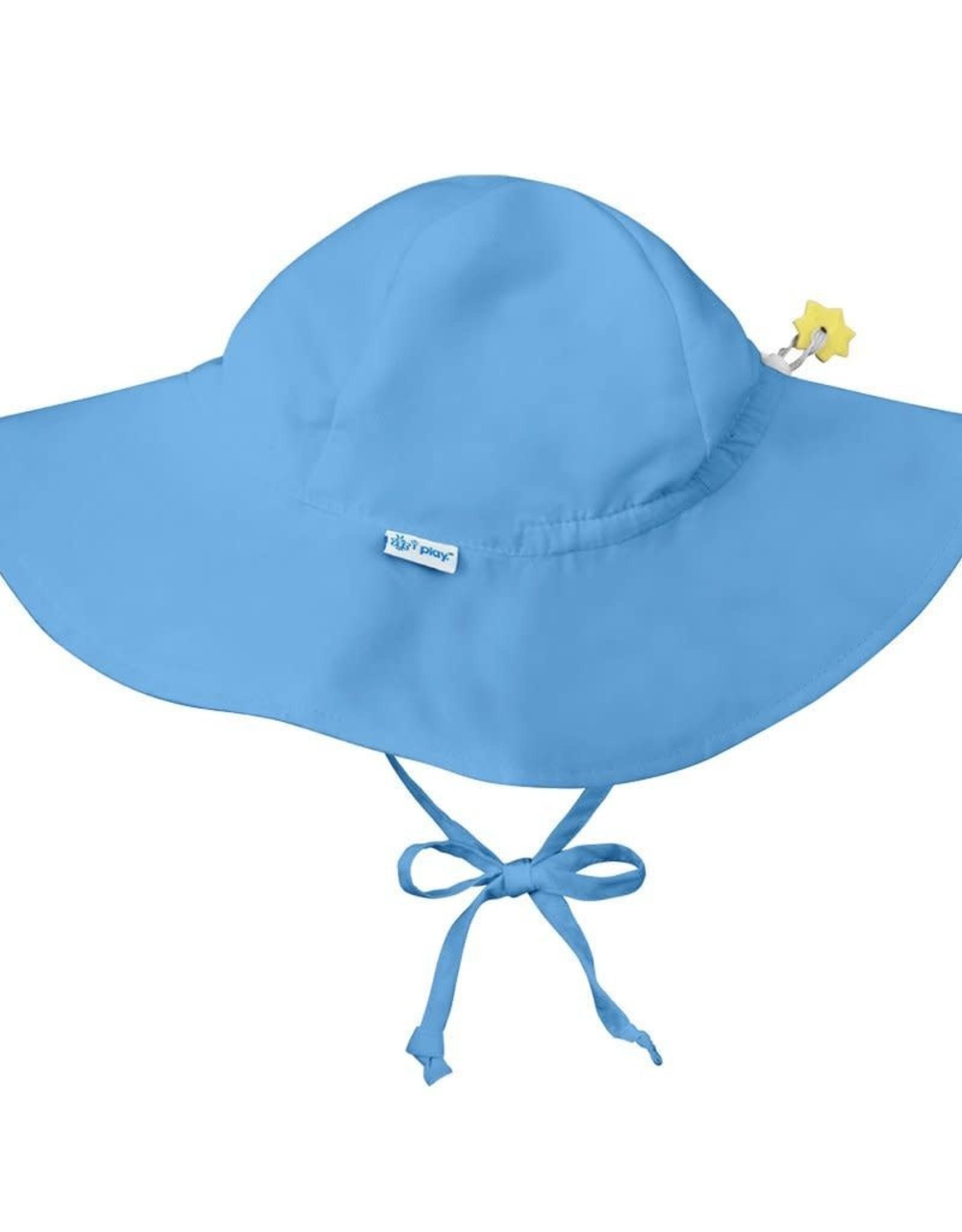 Brim Sun Protection Hat Light Blue