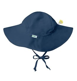 Brim Sun Protection Hat Navy Blue