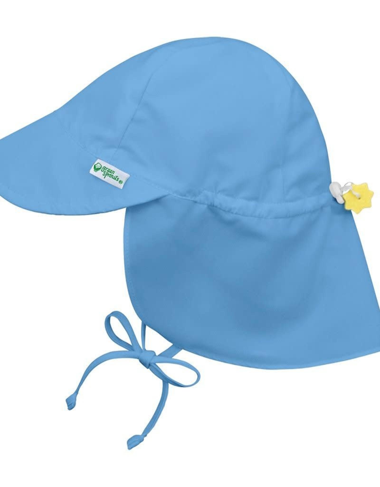 Flap Sun Protection Hat Light Blue