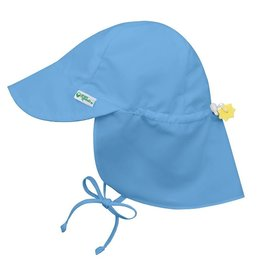 Flap Sun Protection Hat Light Blue