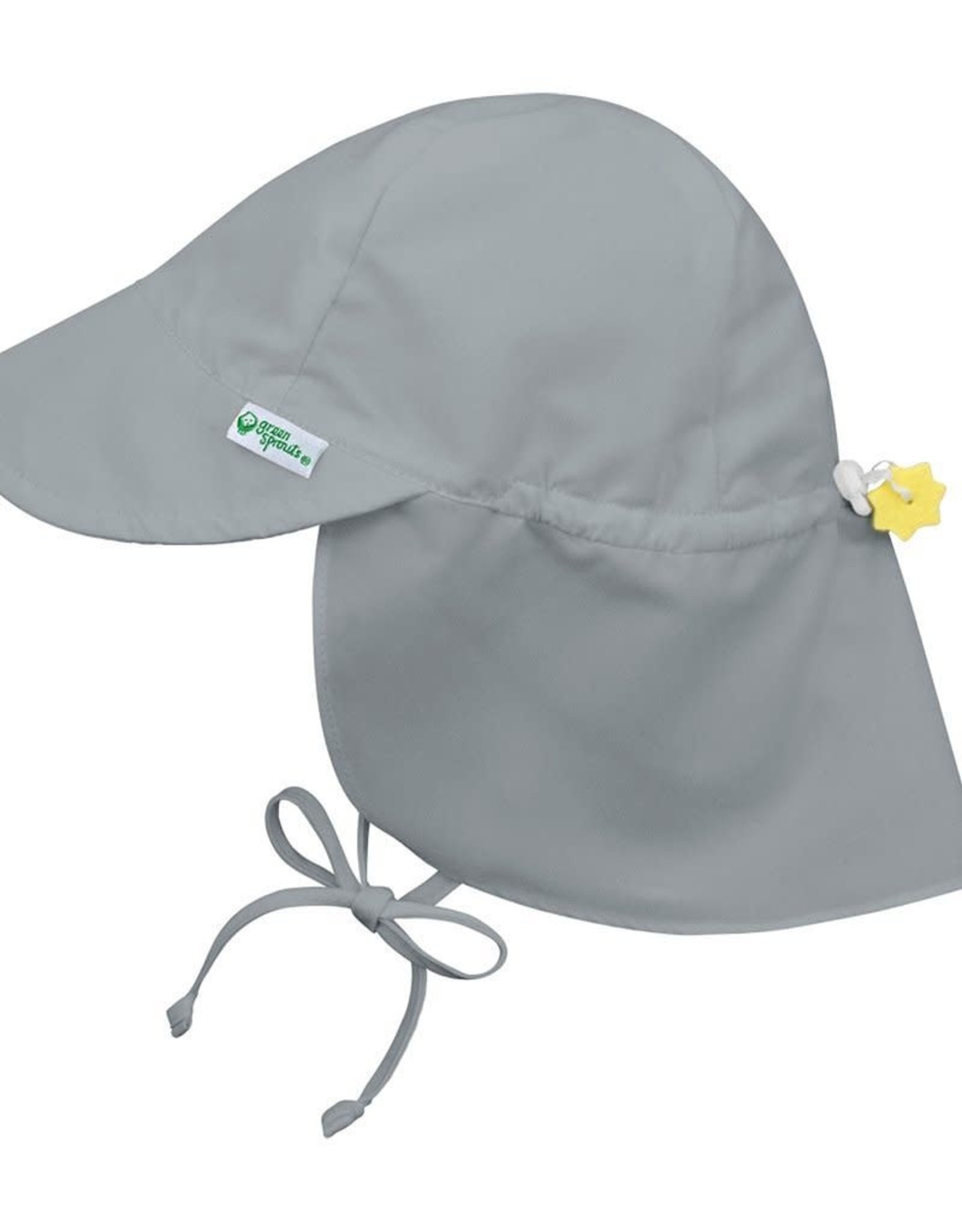 Flap Sun Protection Hat Gray