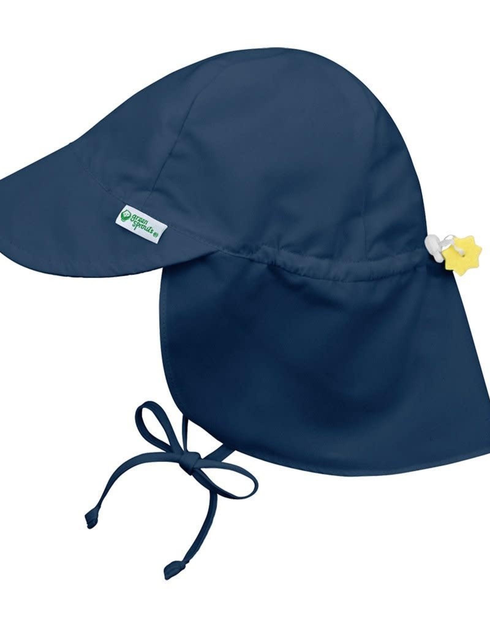 Flap Sun Protection Hat Navy Blue