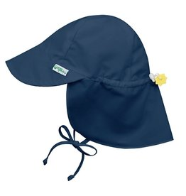 Flap Sun Protection Hat Navy Blue