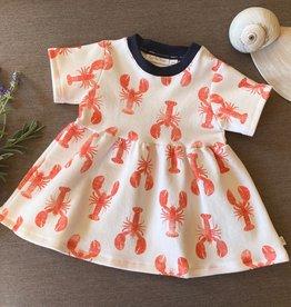 Plaid Pine Designs Organic Lobster Print Dress