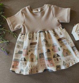 Plaid Pine Designs Organic House Print Dress