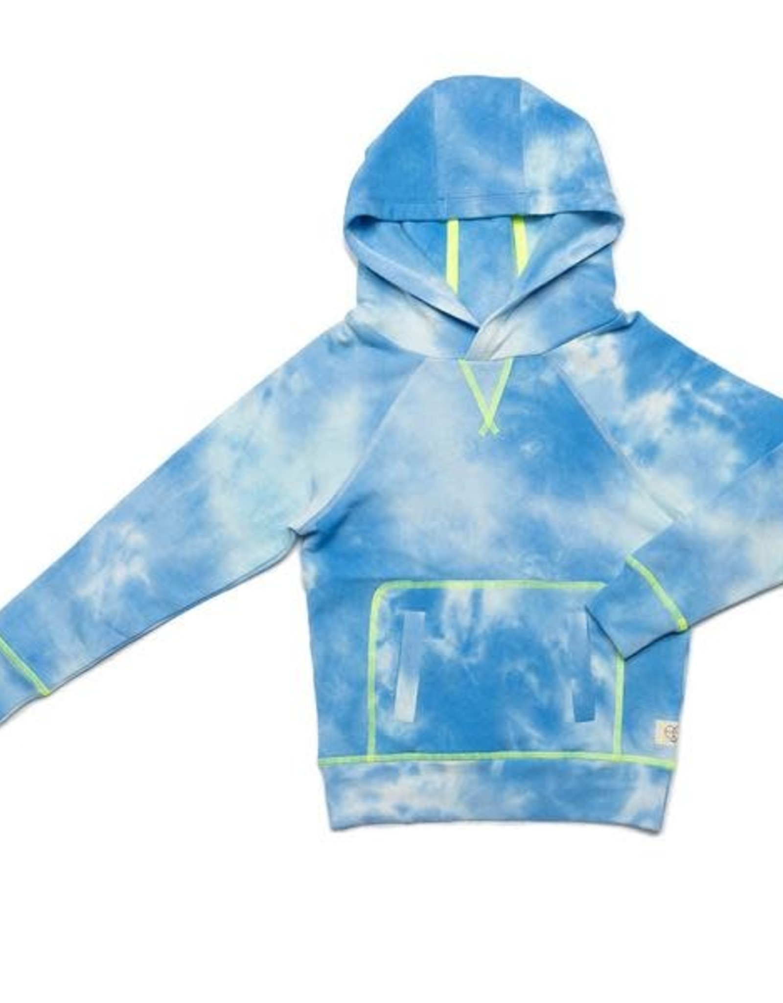 EGG EGG Blue Cloud Tye Tie Dye Larson Hoodie