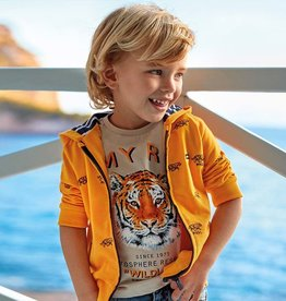 Mayoral Mayoral Embroidered Tiger Hoodie Tangerine