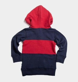 Bitz Block Half Zip Red/Navy