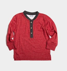 Bitz Henley Neck Tee Red