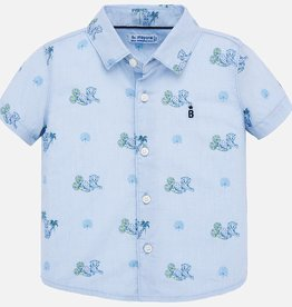 Mayoral Mini Cheetah Blue SS Shirt