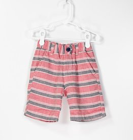Bitz Stripe Shorts Red/Blue Mini