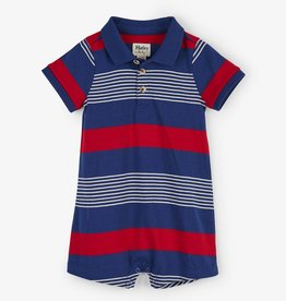 Hatley Navy Stripes Baby Romper