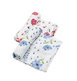 Little Unicorn Little Unicorn Organic Muslin Swaddle 2-Pack- Summer Poppy