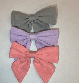 Solid Color Hair Bow Clip