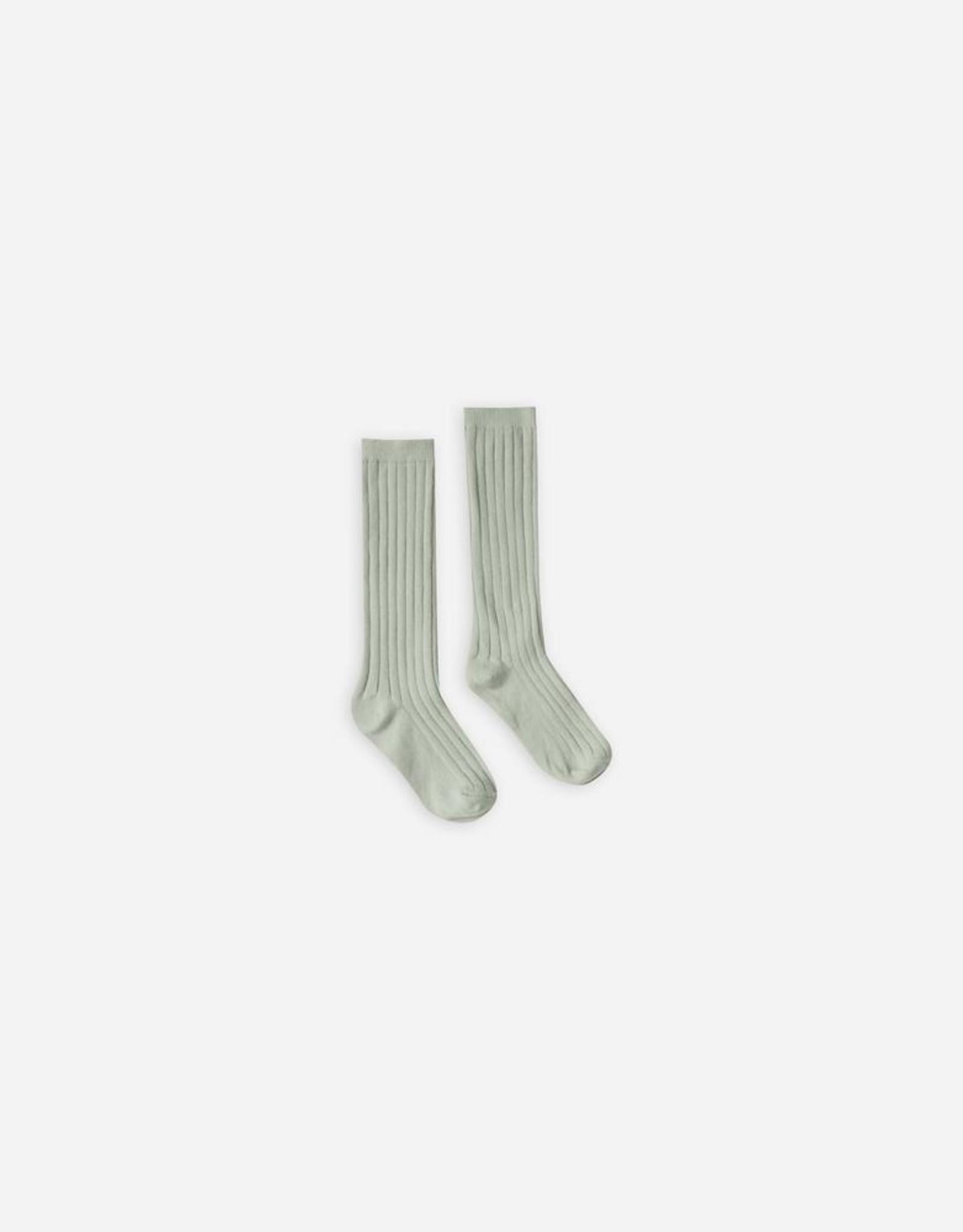 Rylee & Cru Rylee & Cru Solid Rib Socks Seafoam 6-12