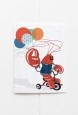Lobster Balloon Card