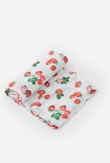 Little Unicorn Little Unicorn Single Swaddle - Strawberry Patch