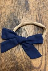 Linen Bow Headband