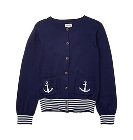 Hatley Nautical Navy Cardigan