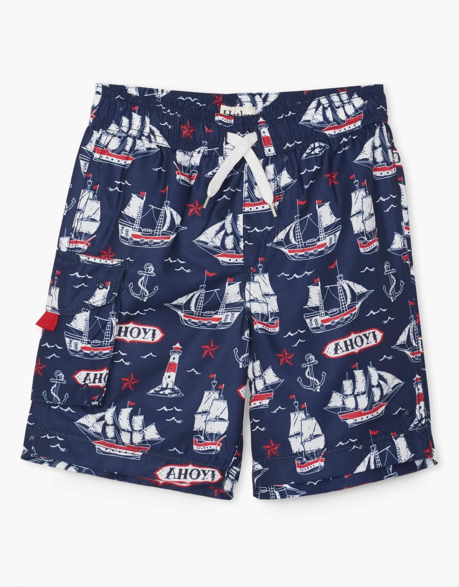 Hatley Nautical Ships Swim Trunks