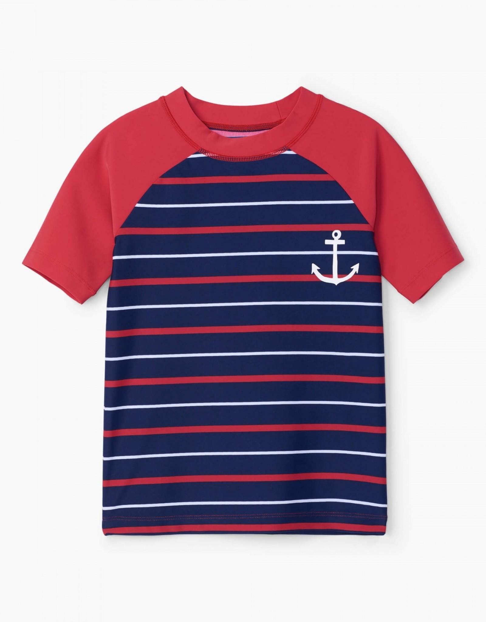 Hatley Nautical Stripe SS Rashguard