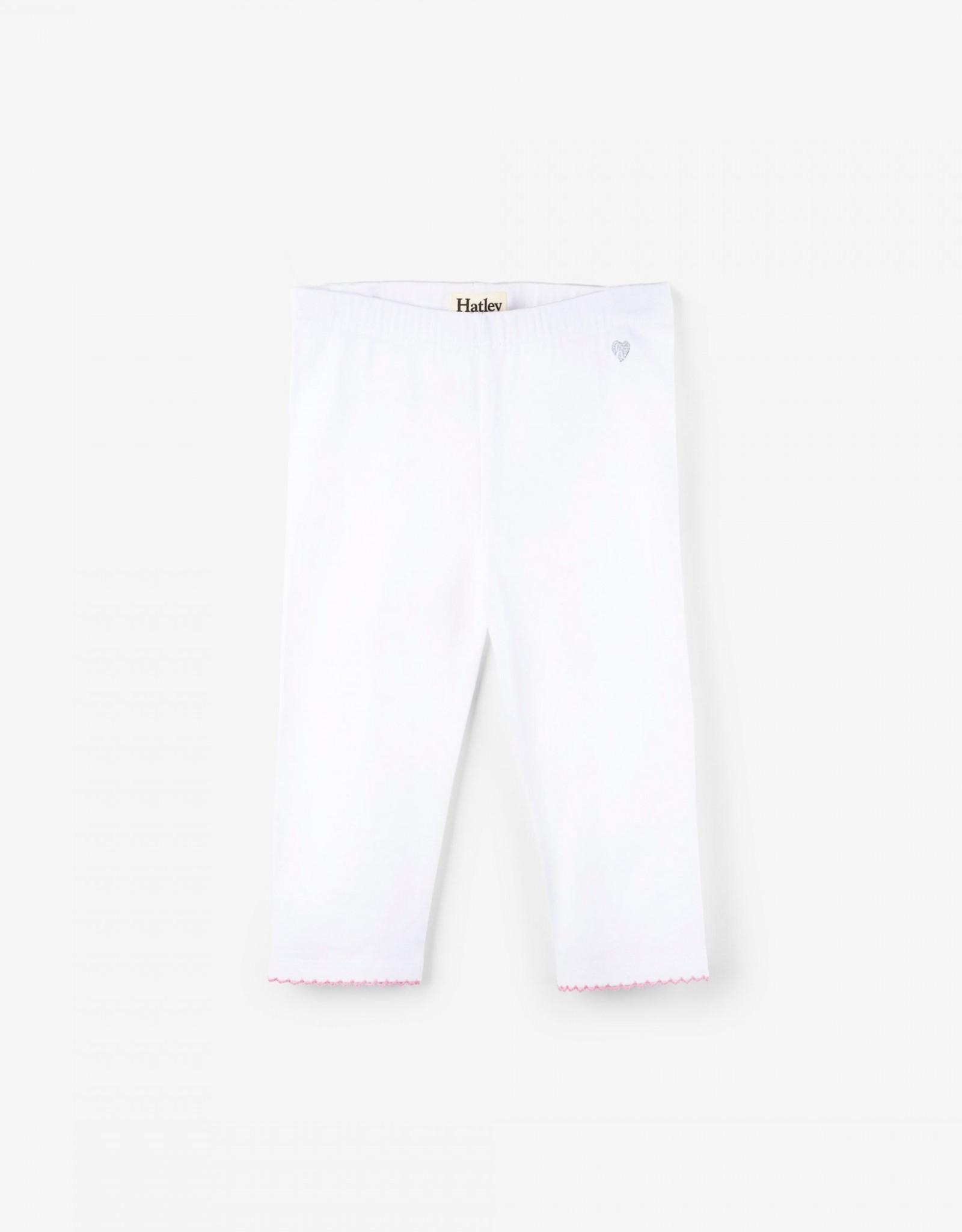Hatley White Basic Capri Legging