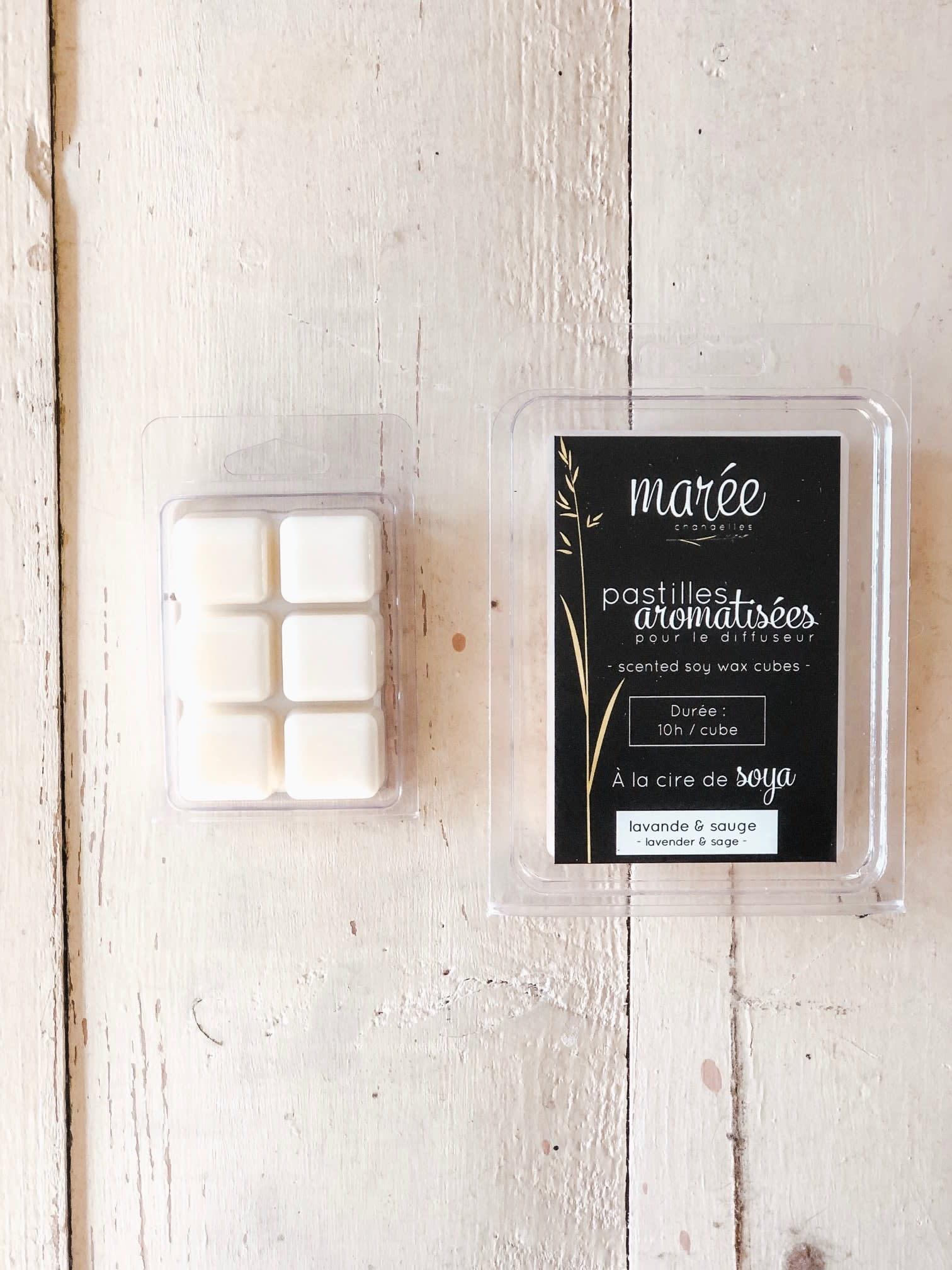 Marée chandelles MARÉE CHANDELLES: Pastilles pour diffuseur Lavande & sauge ( 6 pastilles)