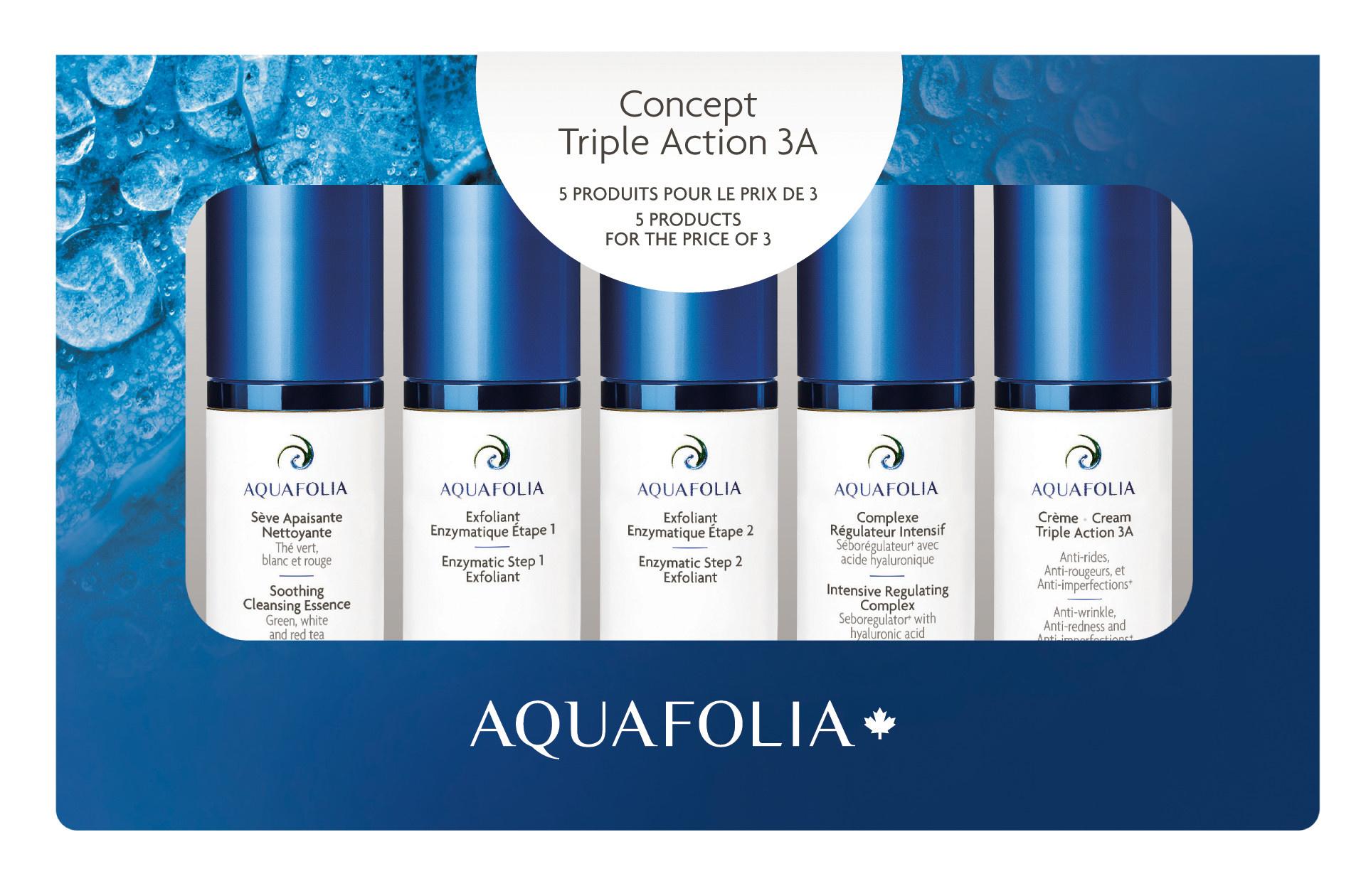 Aquafolia AQUAFOLIA Coffret Découverte Fluide Triple Action 3A