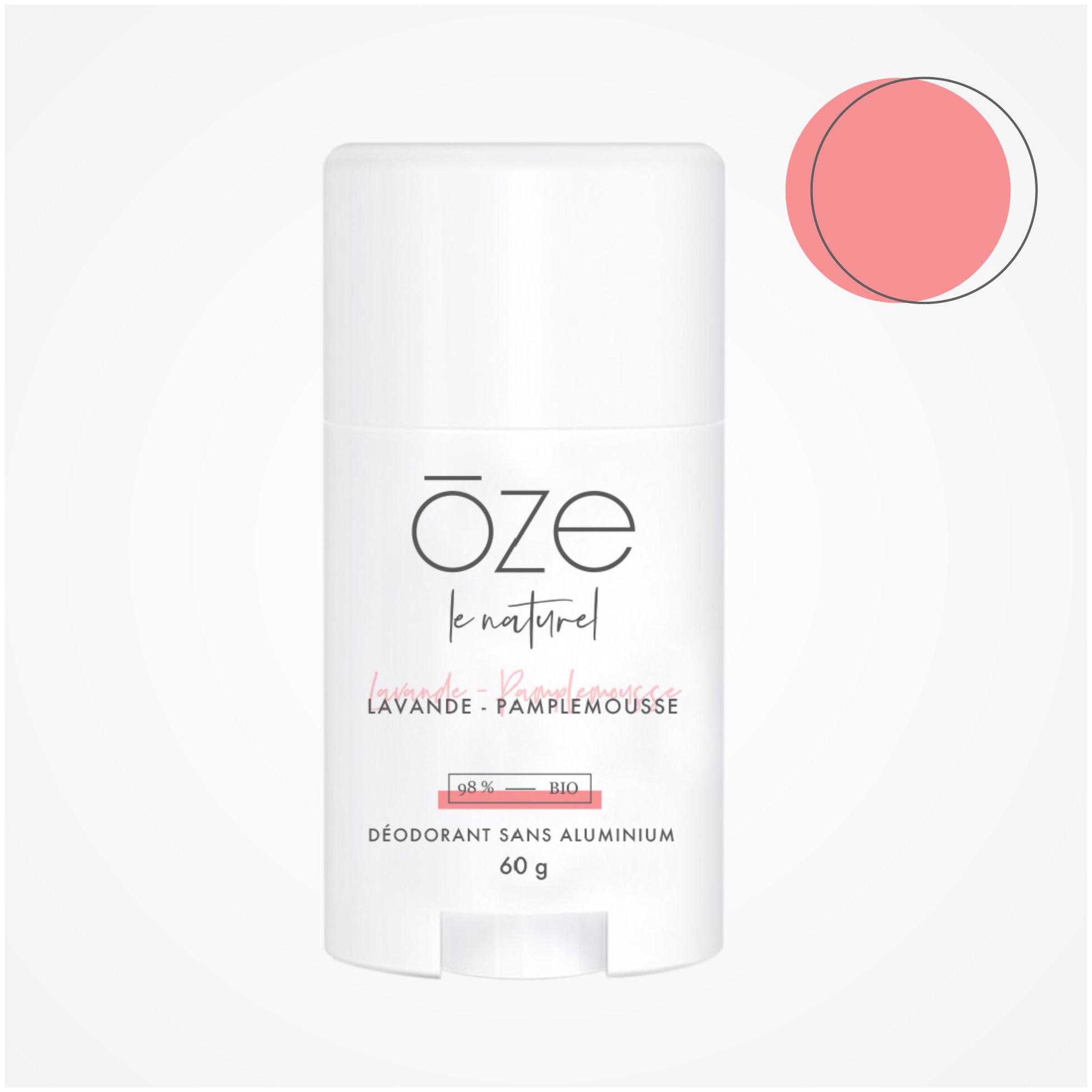 OZE LE NATUREL: Déodorant sans aluminium  PAMPLEMOUSSE-LAVANDE