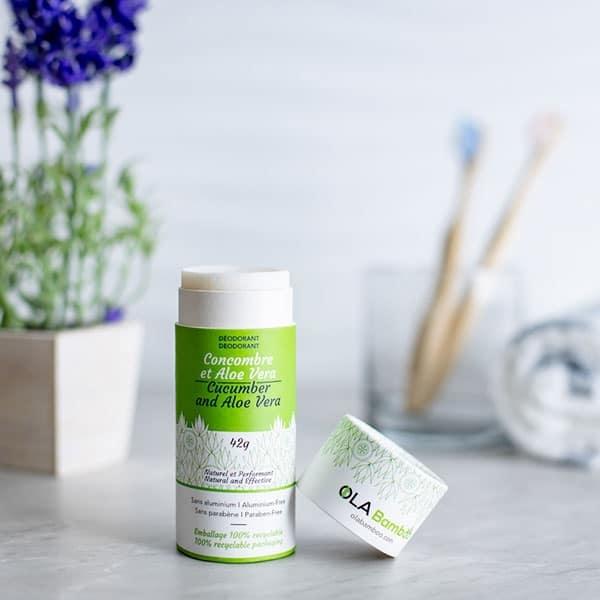 Ola Bamboo OLA BAMBOO : Déodorant Naturel-Concombre et Aloe Vera