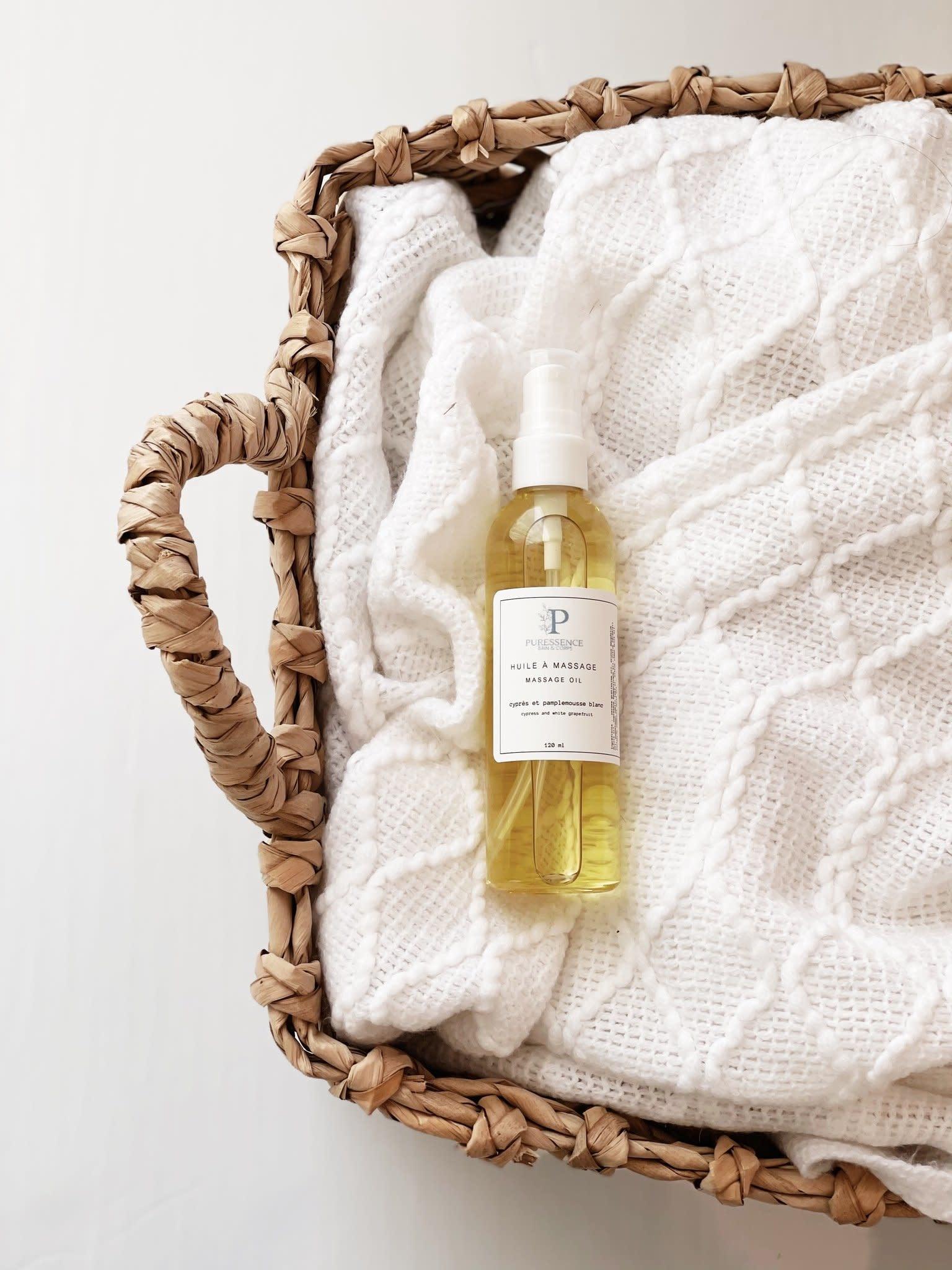 Puressence Bain & Corps PURESSENCE Bain & Corps : Huile de massage Cyprès et pamplemousse blanc
