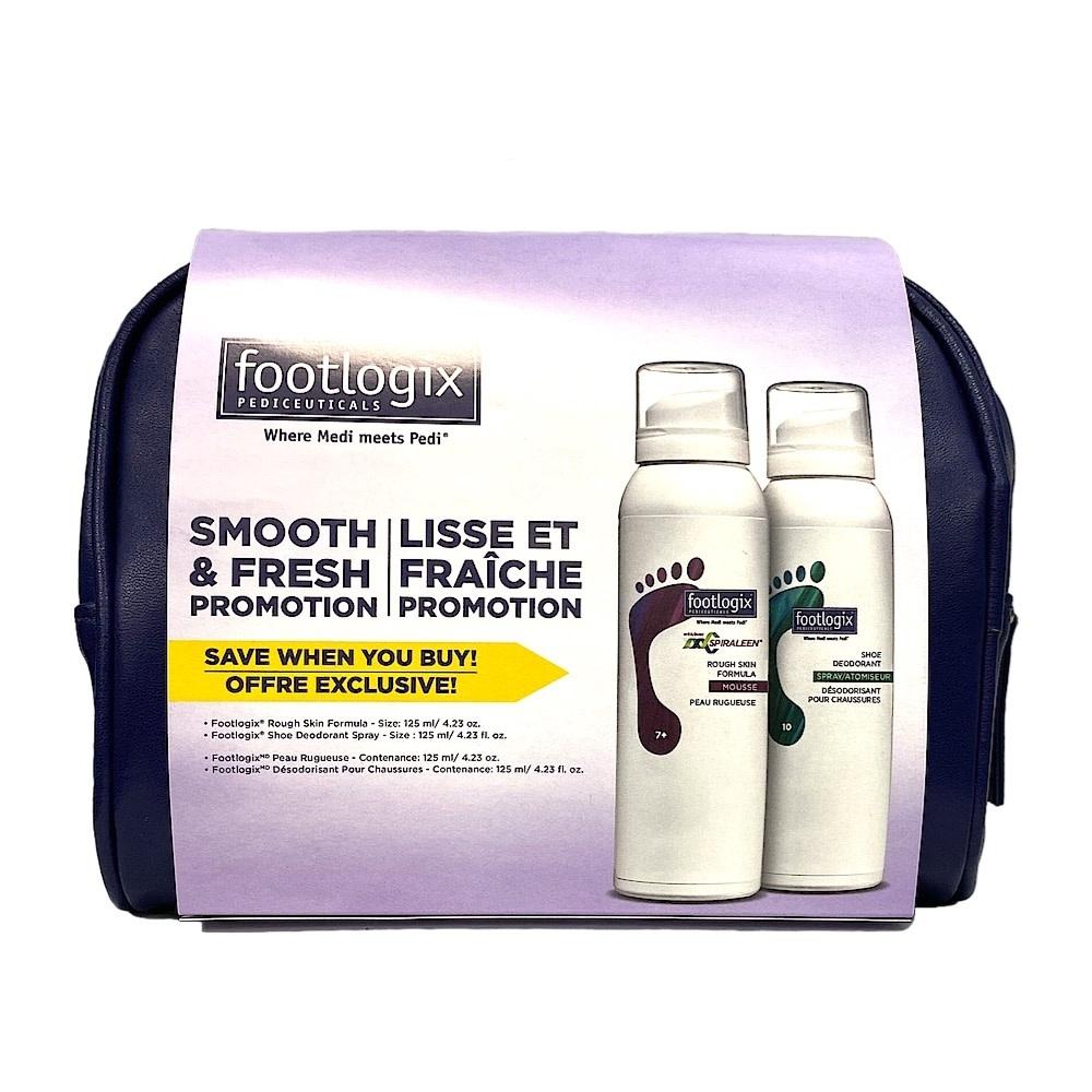 Footlogix FOOTLOGIX : Duo mousse peau rugueuse et déodorant pour chaussures