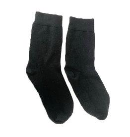 BLACK BAMBOO SOCKS - 1 PAIR