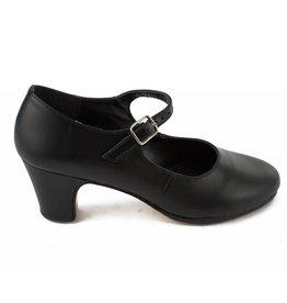 SoDanća FL12  Marisol Flamenco Shoe-Leather  BLACK
