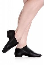 SoDanća JZ40 Low Split Sole Leather Jazz Boot  BLACK