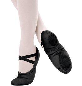 Sansha Pro1C  Split Sole Canvas Ballet Slipper  BLACK