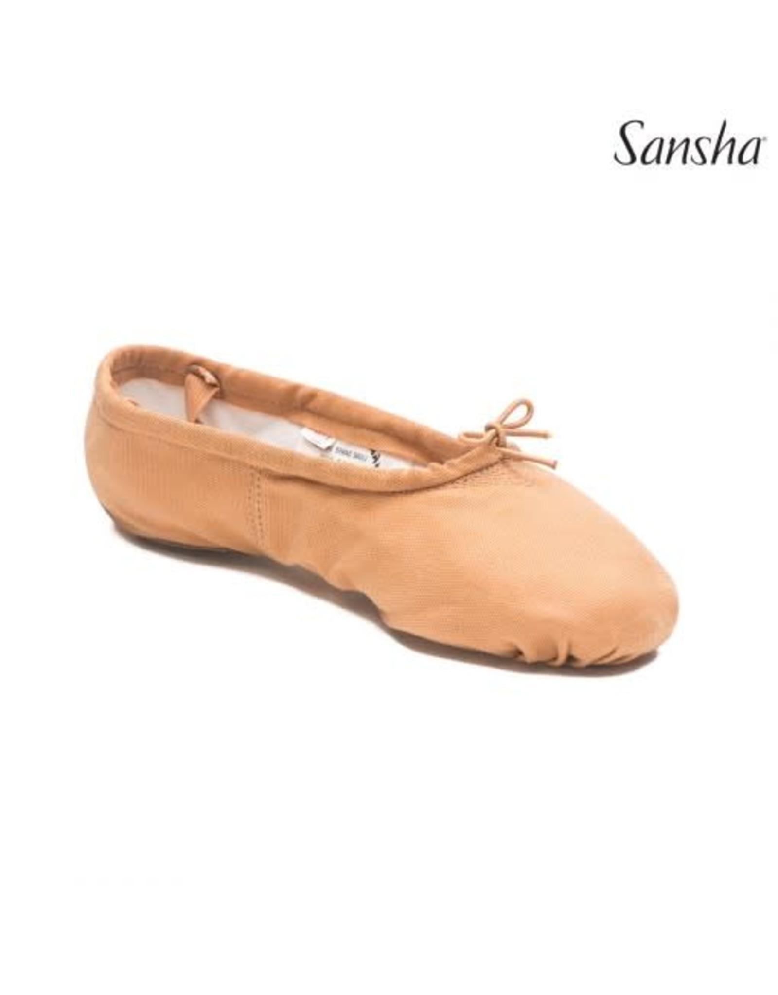 Sansha Pro1C  Split Sole Canvas Ballet Slipper  LT PINK