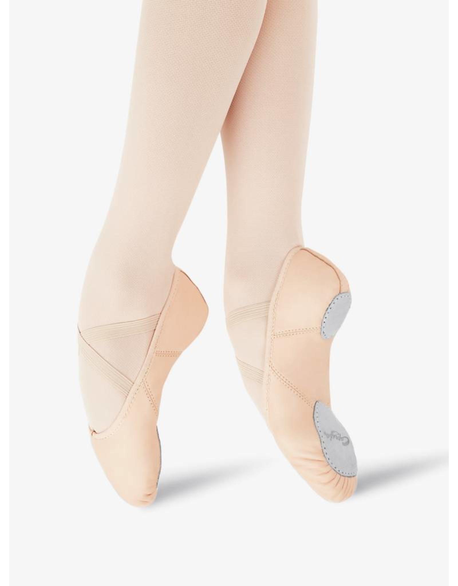 Sansha MODEL 3 Silhouette Split Sole Canvas Ballet Slipper  PINK