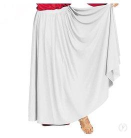 Eurotard 13778- Adult Lyrical Circle Skirt White OSFA