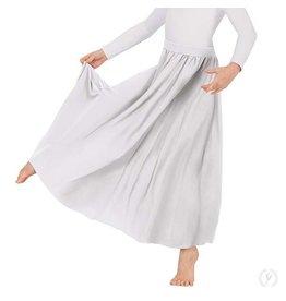 "Eurotard 13778k- Child 25"" Circle Skirt WHITE OSFA"