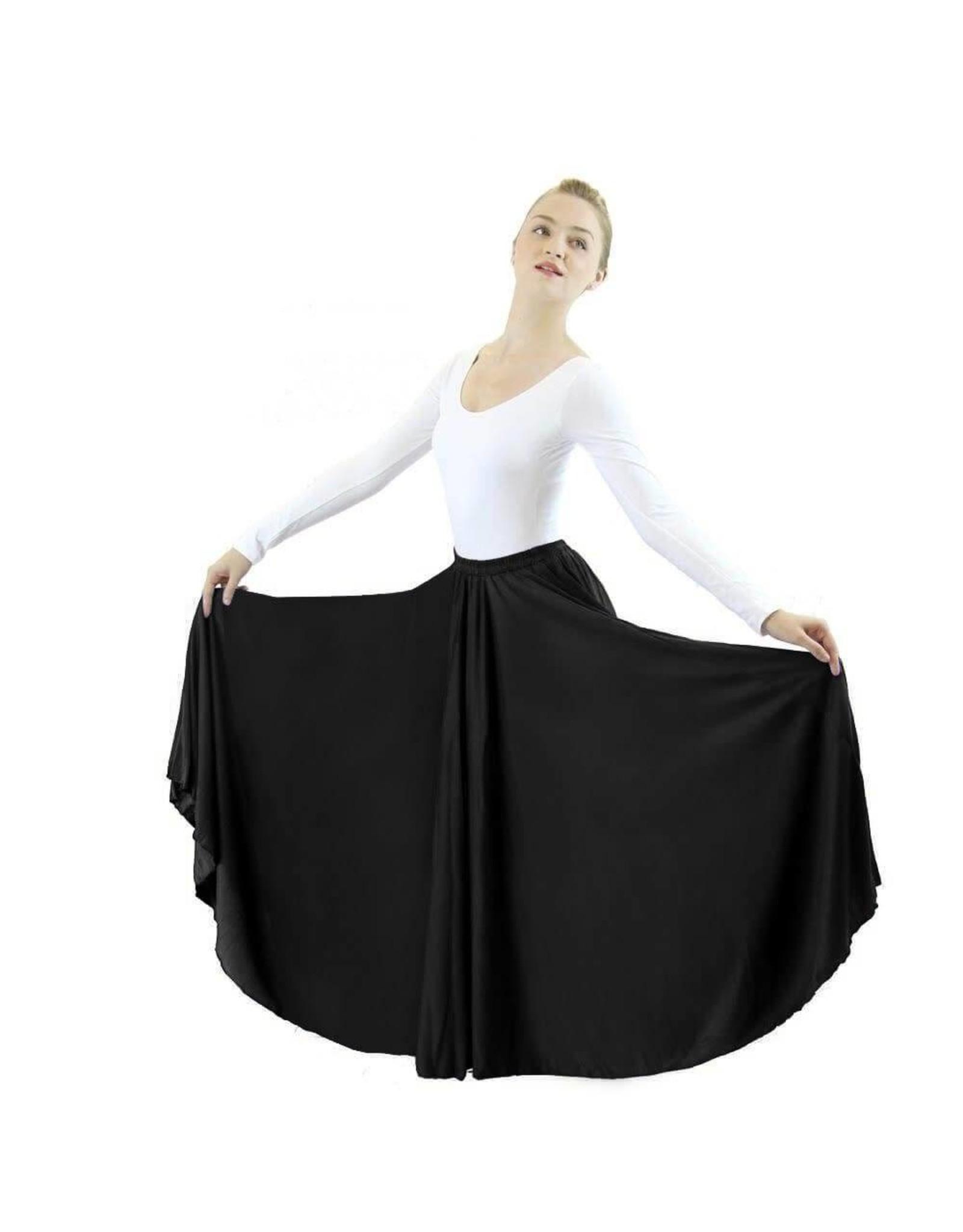 "Eurotard 13778k- Child 25"" Circle Skirt Black OSFA"