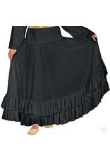 08803 Adult Flamenco Skirt BLACK