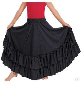 Eurotard 08803C Child Flamenco Skirt BLACK