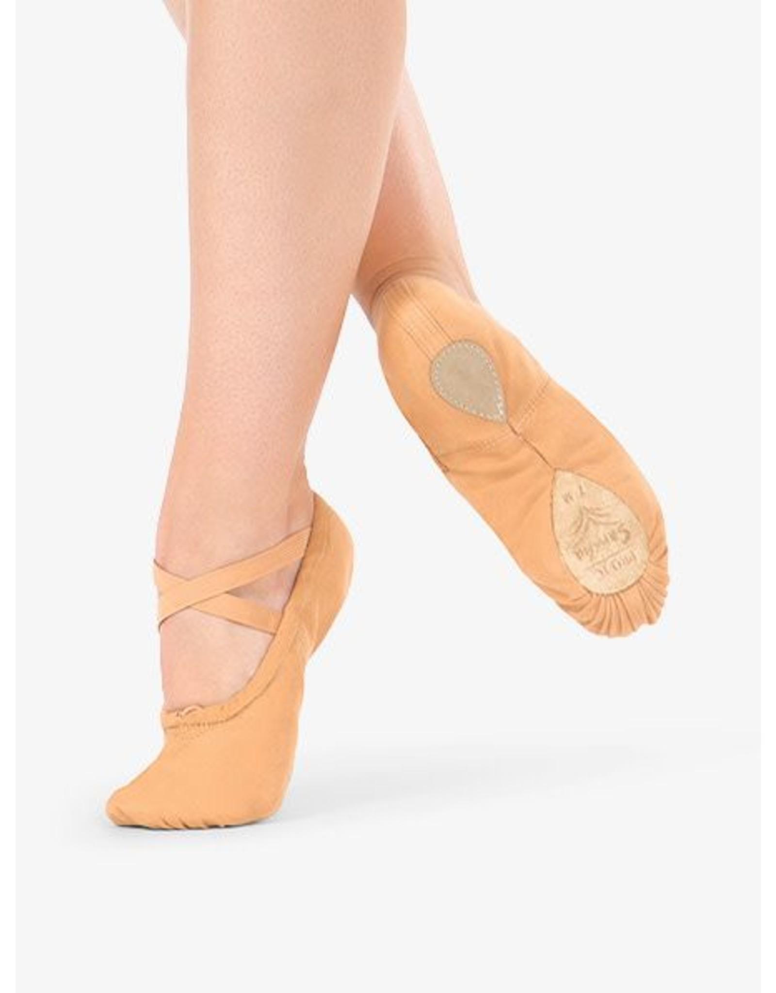 Capezio 2039 Pro Canvas S/sole slipper LIGHT SUNTAN
